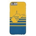 Logotipo de Virginia Occidental en estado Funda De iPhone 6 Barely There