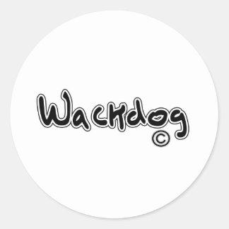 Logotipo de Wackdog Etiquetas Redondas