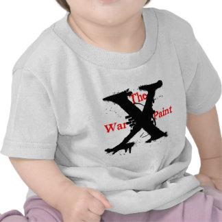 "Logotipo de ""X"" ""de la pintura de guerra"" Camiseta"
