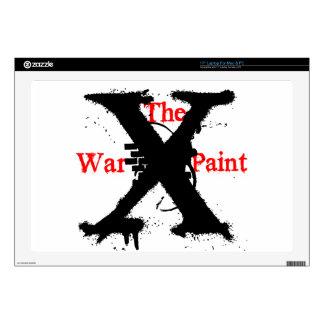 "Logotipo de ""X"" ""de la pintura de guerra"" Calcomanías Para 43,2cm Portátiles"