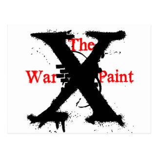 """Logotipo de """"X"""" """"de la pintura de guerra"""" Postal"""
