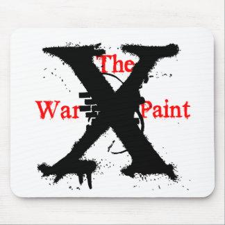 """Logotipo de """"X"""" """"de la pintura de guerra"""" Tapetes De Ratones"""