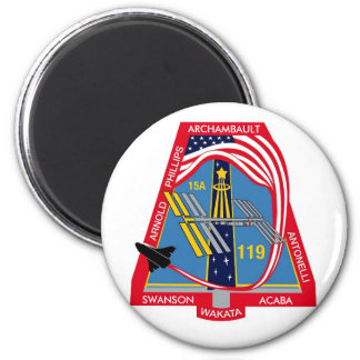 Logotipo de YOUR_NAME_HERE STS-119 Imán Redondo 5 Cm