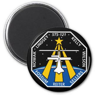 Logotipo de YOUR_NAME_HERE STS-121 Imán Redondo 5 Cm