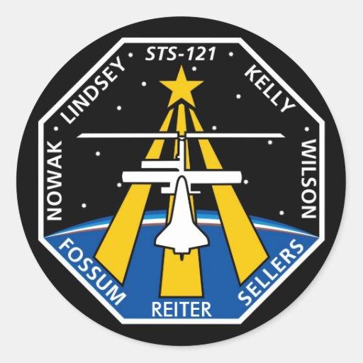 Logotipo de YOUR_NAME_HERE STS-121 Pegatina Redonda