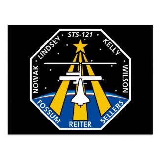 Logotipo de YOUR_NAME_HERE STS-121 Tarjetas Postales