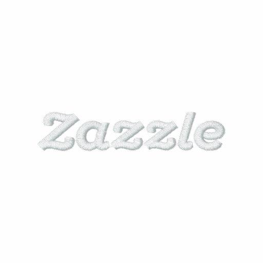 """Logotipo de Zazzle - 2"""" texto Polo Bordado"""