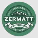 Logotipo de Zermatt Etiquetas Redondas