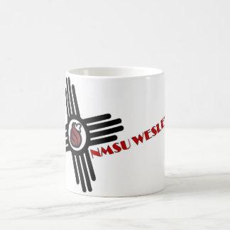 logotipo de Zia NMSU Wesley de la taza de café 11o