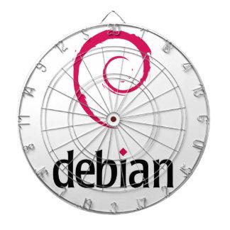 logotipo debian de Linux Tablero Dardos