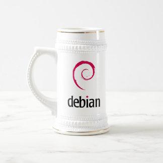 logotipo debian de Linux Jarra De Cerveza