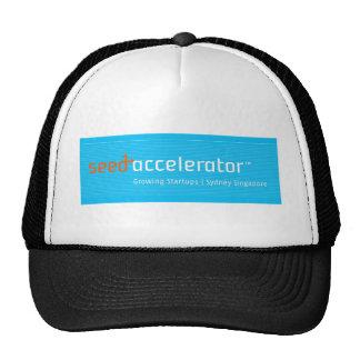 Logotipo del acelerador de la semilla gorro