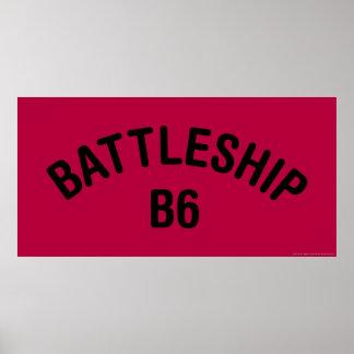 Logotipo del acorazado B6 Póster