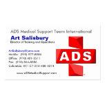 Logotipo del ADS Tarjeta De Negocio