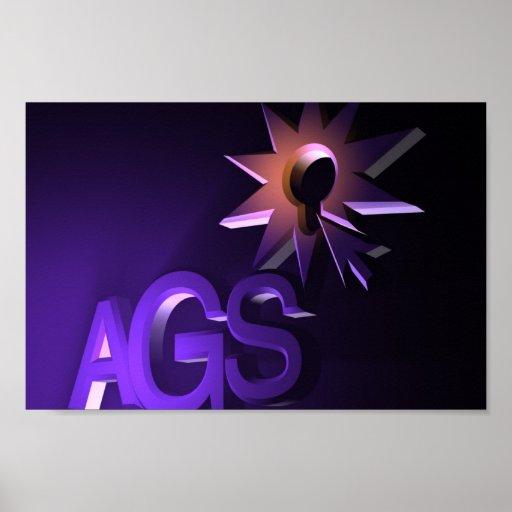 Logotipo del AGS Poster