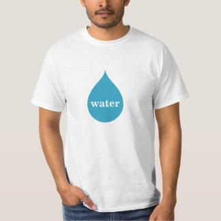 Logotipo del agua remera