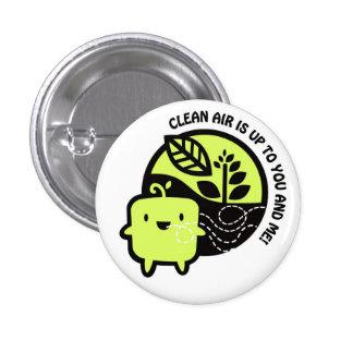 Logotipo del aire limpio pin