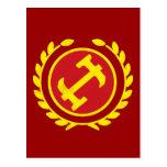 Logotipo del albañil de piedra postal