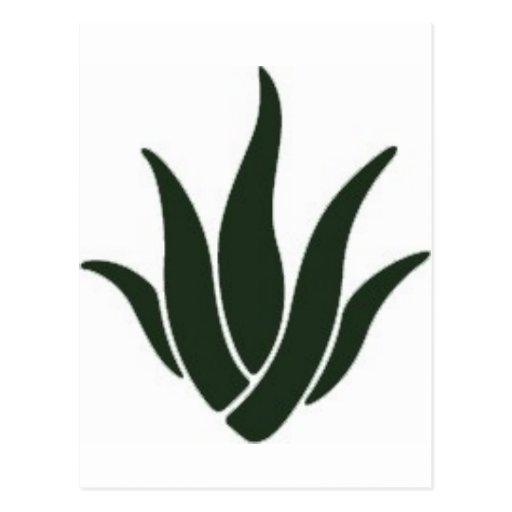 Logotipo del áloe de AGHG Postal