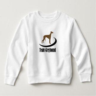 Logotipo del amante del perro del galgo del equipo t shirt