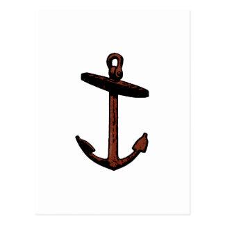 Logotipo del ancla de la nave del vintage postal