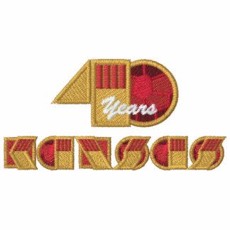 Logotipo del aniversario de 40 años encapuchada bordada