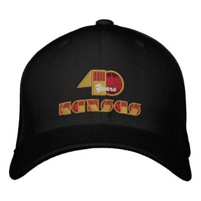 Logotipo del aniversario de 40 años gorras de beisbol bordadas