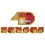 Logotipo del aniversario de 40 años - pecho dejado sudadera bordada con capucha