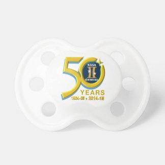 Logotipo del aniversario de los géminis 50.os chupetes
