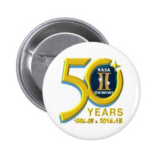 Logotipo del aniversario de los géminis 50 os pin