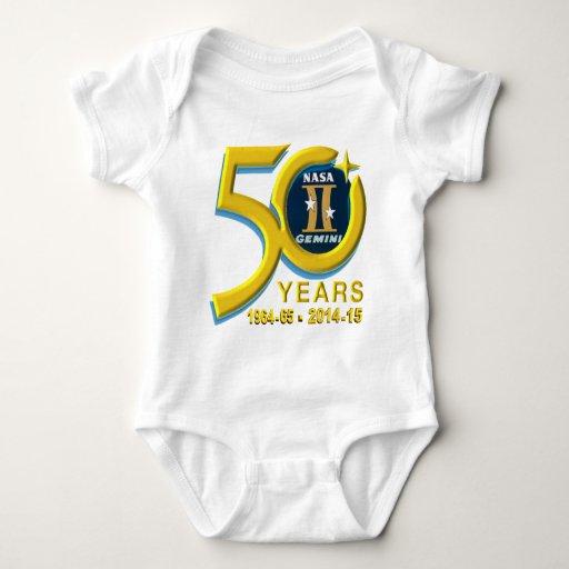 Logotipo del aniversario de los géminis 50.os tee shirts