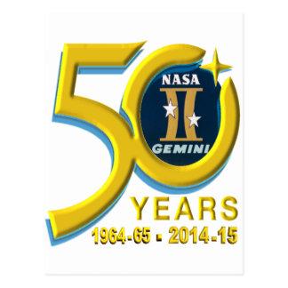 Logotipo del aniversario de los géminis 50.os postal
