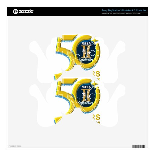Logotipo del aniversario de los géminis 50.os skins para mandos PS3