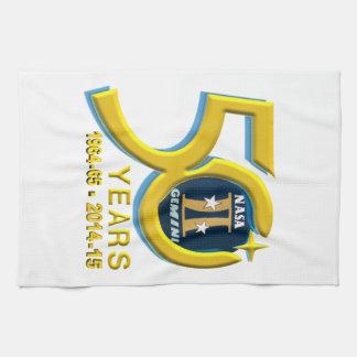 Logotipo del aniversario de los géminis 50.os toalla
