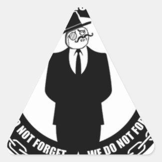 logotipo del antisec pegatina triangular