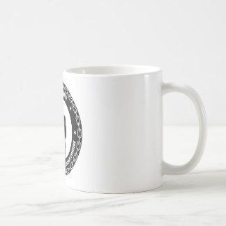 logotipo del antisec taza básica blanca