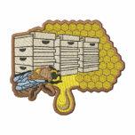 Logotipo del apicultor sudadera bordada