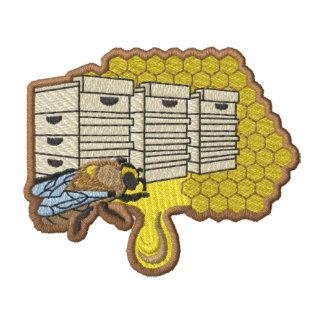 Logotipo del apicultor sudadera bordada con capucha