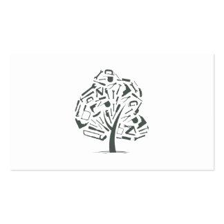 Logotipo del árbol plantillas de tarjeta de negocio
