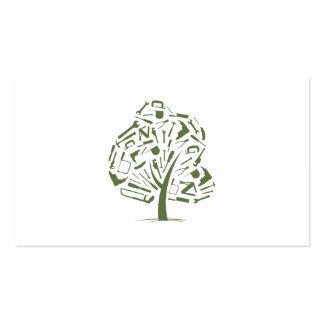 Logotipo del árbol tarjetas de negocios