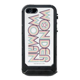 Logotipo del arco iris de la Mujer Maravilla Carcasa De Iphone 5 Incipio Atlas Id