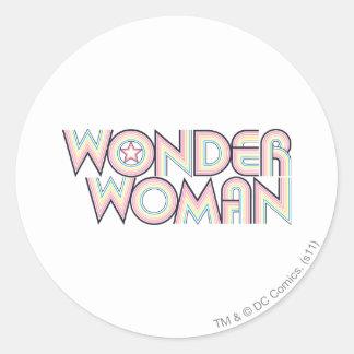 Logotipo del arco iris de la Mujer Maravilla Pegatinas