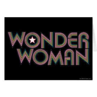 Logotipo del arco iris de la Mujer Maravilla Tarjeta De Felicitación