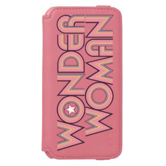 Logotipo del arco iris de la Mujer Maravilla Funda Cartera Para iPhone 6 Watson