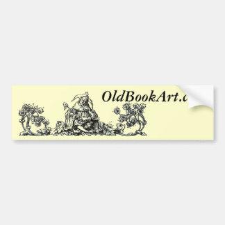 Logotipo del arte del libro viejo pegatina para auto