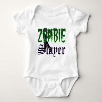 Logotipo del asesino del zombi de los regalos del body para bebé