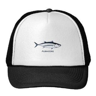 Logotipo del atún de albacora de Longfin Gorras De Camionero