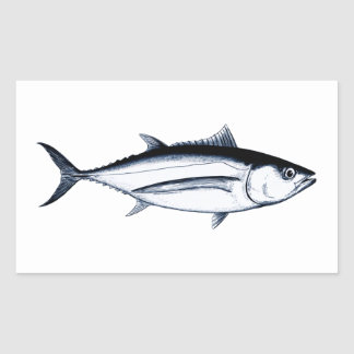 Logotipo del atún de albacora de Longfin Rectangular Altavoz