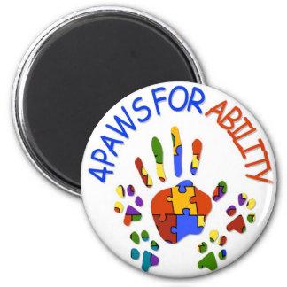 logotipo del autismo imán redondo 5 cm
