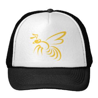 Logotipo del avispón amarillo gorros